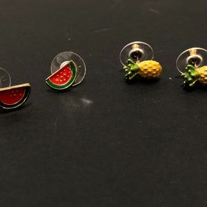 Watermelon and Pineapple Studs